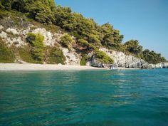 Skopelos island, remote beach.
