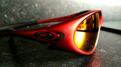 9451685d2c Red Oakley minute 1.0 with flame red Ikon polarized lenses. Ikon
