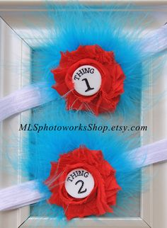 Thing 1 & Thing 2 Headbands  Dr. Seuss' Cat by MLSPhotoWorksShop, $12.00