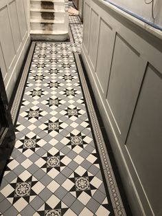 Victorian tiles are an elegant and original feature that will add value to your property. Victorian mosaic tiles supplay and installation Victorian Hallway Tiles, Victorian Mosaic Tile, Tiled Hallway, Victorian Pattern, Metal Railings, Paving Slabs, Geometric Tiles, Style Tile