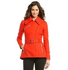 Susan Graver Weekend Brushed Back Knit Long Sleeves Zip Front Jacket Belted Coat, Winter Coat, Coats For Women, Casual Wear, Leather Jacket, Zip, My Style, Sleeves, How To Wear