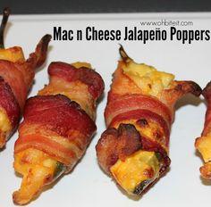 ~Mac n Cheese Jalapeño Poppers!   Oh Bite It