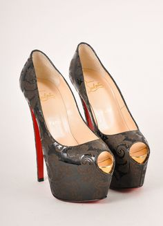 louboutin studded mens shoes - christian louboutin ponyhair markesling 120 laser-cut pumps, fake ...