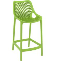 """""""Riley"""" Injection Mould Outdoor Bar Stool 65cm in Green - AU$194 – https://www.simplybarstools.com.au/products/riley-injection-mould-outdoor-counter-stool-65cm-in-green - Simply Bar Stools - fixed leg, plastic, counter height, bar stools. #Australia #Furniture"""