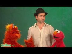 Sesame Street: Colin Farrell: Investigate<- I agree, Colin is tall and handsome.