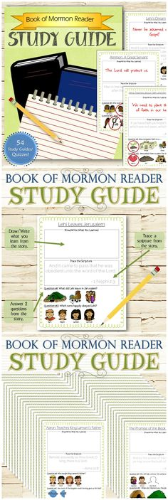 A fun and easy way to make sure children are understanding the Book of Mormon Reader stories. Purchase includes  54 study guides/quizzes, one for every story in the LDS version of the Book of Mormon Reader Stories/Videos. A great family or primary activity and way to introduce young children to start studying the scriptures!