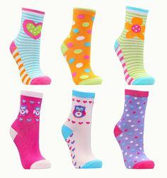 Metzuyan Girls Childrens Striped Cotton Rich Socks 10 Pairs