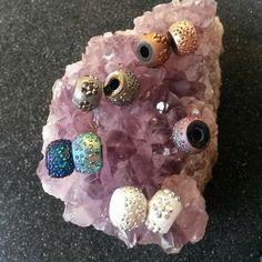 Large thick assorted colored plastic beads #newjewlz #hempjewlz #hemp #jewelry #beads #large #round #assorted #thick #silver #white #bronze #blue #purple