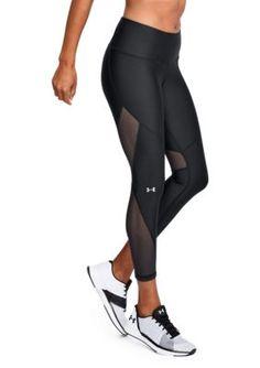Under Armour Women's Mesh Ankle Crop Pants - Black - L
