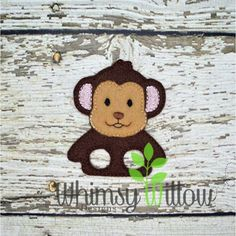 Monkey Finger Puppet Clock For Kids, Art For Kids, Vbs Themes, Felt Finger Puppets, Sewing Toys, Felt Crafts, Pet Birds, Machine Embroidery Designs, Snoopy