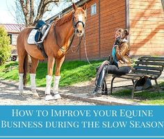 Ebbs and flows are just part of having an equine product or service based business. But, using those slower times to smooth out your company's sales and marketing plans and processes is essential to growth!