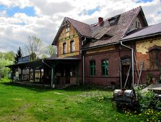 Poland, Wolimierz, old station Poland, Cabin, House Styles, Travel, Home Decor, Viajes, Decoration Home, Room Decor, Cabins
