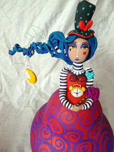 Diy Crafts Hacks, Diy Home Crafts, Paper Dolls, Art Dolls, Hand Crafts For Kids, Paper Mache Sculpture, Play Clay, Learn Art, Paperclay