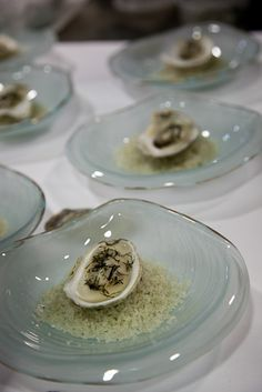 An Elemental Oyster, cooked in the shell, seawater gélée by chez pim, via Flickr