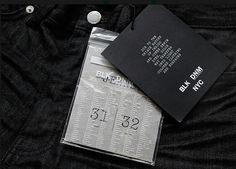 BLK DNM branding by Triboro Design branding Denim Branding, Fashion Branding, Logo Branding, Brand Identity, Logos, Tag Design, Print Design, Graphic Design, Visual Merchandising
