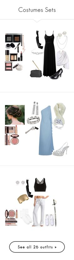 """""""Costumes Sets"""" by wynonnamaree ❤ liked on Polyvore featuring NOVICA, Journee Collection, Humble Chic, AK Anne Klein, Jessica McClintock, Bobbi Brown Cosmetics, Charlotte Russe, Maybelline, Laura Mercier and MAC Cosmetics"""