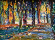 Wassily Kandinsky - Park of St Cloud - Autumn, 1906 at Lenbachhaus Art Gallery Munich Germany