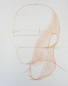 How to Draw a Portrait in Three Quarter View, Part 3 Human Drawing, Human Art, Life Drawing, Abstract Drawings, Art Drawings, Abstract Paintings, Portrait Sketches, Art Sketches, Charcoal Art