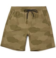 A.P.C. + Outdoor Voices Wide-Leg Camouflage-Print Ripstop Shorts. #a.p.c. #cloth #shorts