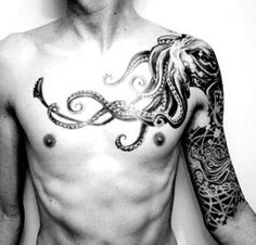 Getting an octopus tattoo with an anchor, cross, heart & lillies. All represent where I am at in my life and who I am with there.