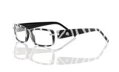 Switch It LE-HD-Zebra, Backe: transparent-weißmetallic, Brücke/Front: zebra-schwarz, Bügel: schwarz-zebra