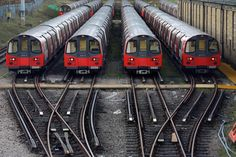 Underground trains are parked during a 24-hour strike by train drivers over public holiday pay in London. (Sang Tan / AP Photo)