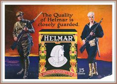 1918 November Helmar Cigarettes  - Quality of Helmar is closely guarded