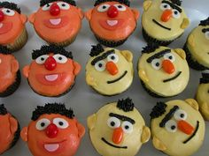 Bert & Ernie cupcakes