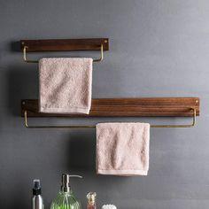 Home Decor Minimalist Alma - Wooden Towel Rack.Home Decor Minimalist Alma - Wooden Towel Rack Terrarium, Towel Rack Bathroom, Kitchen Towel Rack, Cozy Bathroom, Shiplap Bathroom, Bathroom Art, Bathroom Styling, Bathroom Faucets, Sinks