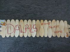 Nameplate made by my sista!!!  Simply awesome  Ice-cream sticks