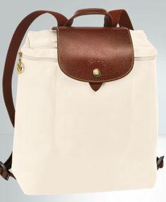 longchamp le pliage backpack -- classiest!