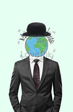 Cherish the earth Men, men, festivals, environmental protection, earth day, publicity, public welfare, charity, creative, simple, funny.