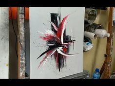 UN TABLEAU ABSTRAIT EN 10 MINUTES par Nelly LESTRADE - YouTube Acrylic Painting Techniques, Painting Videos, Painting Lessons, Acrylic Pouring Art, Acrylic Art, Acrylic Paintings, Art Sur Toile, Canvas Art Projects, Pour Painting