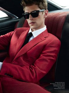 Milan Vukmirovic photographs fast cars and sharp suits for the April '13 issue of Details magazine featuring Danish model Mathias Lauridsen, styled by Matthew Marden.