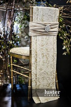 Tailored and opulent wedding chair covers to DIY for bride and groom?