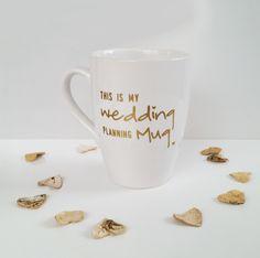 """Tasse für den Beruhigungstee beim Planen Deiner Hochzeit / mug """"This is my wedding planning mug"""" by Die_Design_Manufaktur via DaWanda.com"""