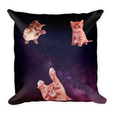 Reserved For The Cat White Silky Cushion Cover Gift Funny Birthday Pet Kitten