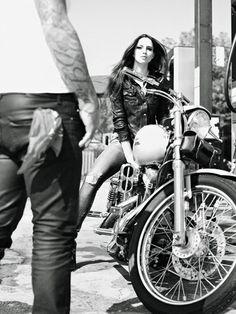 Busty redhead biker babes the