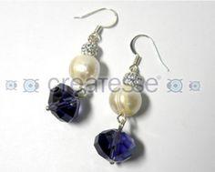 Pendientes perla y murano