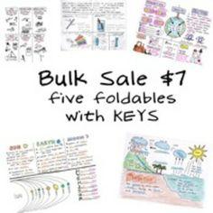 BUNDLE sale - 5 Science Foldables by Science Doodles