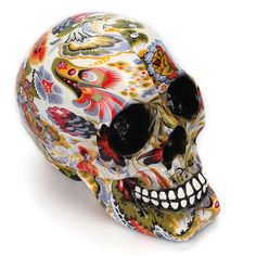 Human Head Skeleton Decors Prop Resin Skull Figurines Coffee Bar Ornaments