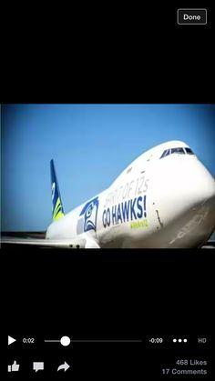 Boeing 747-8 Seattle Seahawks plane