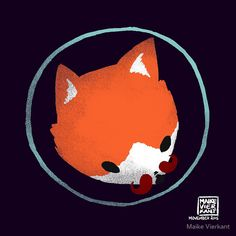 Space Fox Logo - Movember Edition 2015