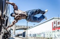 big guy street workout