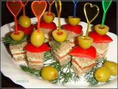 Фуршетные блюда .канапе - Простые рецепты Овкусе.ру