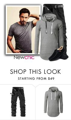 """20. Newchic"" by fashionunion-1 ❤ liked on Polyvore featuring men's fashion and menswear"
