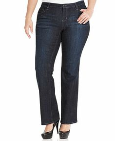 DKNY Plus Size Mercer Slim Bootcut Jeans, Idol Wash - Plus Size Jeans - Plus Sizes - Macy's