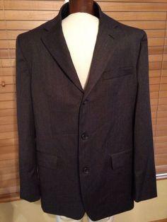 Banana Republic Charcoal Gray Men's Wool Suit Jacket Blazer Size 44R New! $179 #RalphLauren #ThreeButton