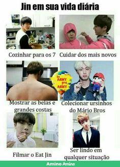 É o amor da minha vida mesmo :') Bts Memes, Bts Meme Faces, Funny Memes, Hoseok, Seokjin, Namjin, Bts Jin, Bts Bangtan Boy, Foto Bts