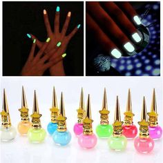 Fashion Nail Polish Non toxic 12 colors Fluorescent Neon Luminous Gel Nail Polish for Glow in Dark for Women Children Nail Polish from Beauty & Health on AliExpress Cheap Nail Polish, Dark Nail Polish, Dark Nails, Glow Nails, Nail Art Tools, Nail Stamping, Neon, Nail Care, Nail Colors